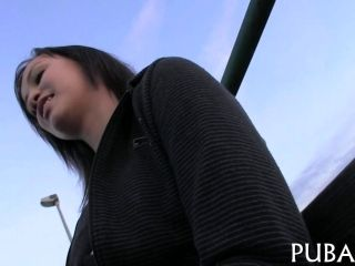 Euro Chick Gets Her Young Beaver Humped Doggy Style
