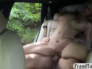 Immense Boobs Light-haired Babe Boinked By The Driver To Off Her Fare