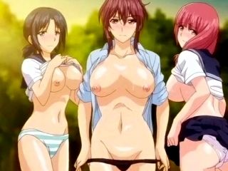 Super Juicy Anime Gals Get Their Soaked Slits Fucked In The Forest