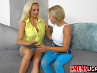 Attractive sweet thing Presley lick mom clam