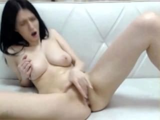 Vast Titted Amelie May Masturbates Frenetically With Toys And Fingers